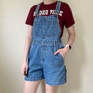 VINTAGE Ovarall Shorts Longer Inseam Dungarees M